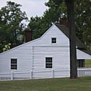 Kitchen And Slave Quarters Appomattox Virginia Print by Teresa Mucha