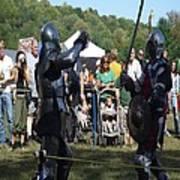 Knights Saber Fighting Print by Eileen Szydlowski