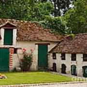 La Pillebourdiere Old Farm Outbuildings In The Loire Valley Print by Louise Heusinkveld