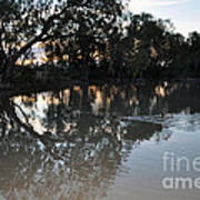 Lagoon At Dusk Print by Joanne Kocwin