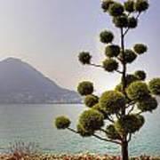 Lake Lugano - Monte Salvatore Print by Joana Kruse
