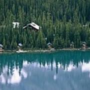 Lake Ohara Lodge And Cabins Print by Michael Melford