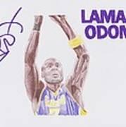 Lamar Odom Print by Toni Jaso