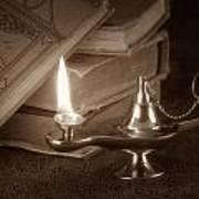 Lamp Of Learning Print by Tom Mc Nemar