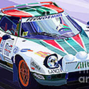 Lancia Stratos Alitalia Rally Catalonya Costa Brava 2008 Print by Yuriy  Shevchuk