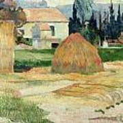 Landscape Near Arles Print by Paul Gauguin