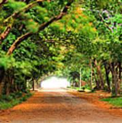 Landscape Painting Showing Road  Print by Parinya Kraivuttinun