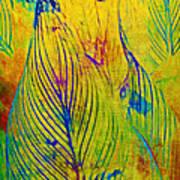 Leaves In The Jungle Print by Judi Bagwell