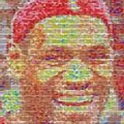 Lebron James Pez Candy Mosaic Print by Paul Van Scott