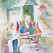 Les Voiliers Jardin Du Luxembourg Print by Pat Katz