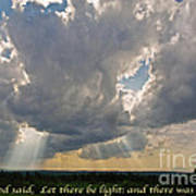 Let There Be Light Print by John Stephens