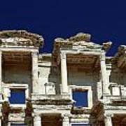 Library Of Celsus In Ephesus Print by Sally Weigand
