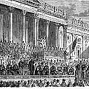 Lincolns Inauguration, 1861 Print by Granger