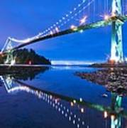 Lions Gate Bridge, Vancouver, Canada Print by David Nunuk