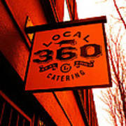 Local 360 In Orange Print by Kym Backland