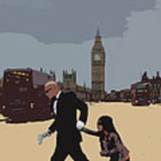 London Matrix Baddie Agent Smith Print by Jasna Buncic
