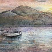 Lone Fisherman Print by Arline Wagner