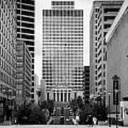Looking Up Deaderick Street Towards War Memorial Plaza And The William Snodgrass Tennessee Tower Print by Joe Fox