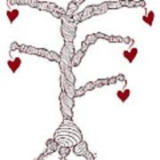 Love Tree Print by Frank Tschakert