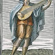 Lute, 1723 Print by Granger