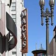 Macys Department Store In San Francisco Print by Wingsdomain Art and Photography