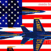 Made In The Usa . Blue Angels Print by Wingsdomain Art and Photography