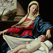 Madonna And Child  Print by II Sassoferrato