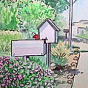 Mail Boxes Sketchbook Project Down My Street Print by Irina Sztukowski