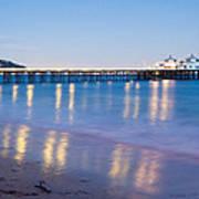 Malibu Pier Reflections Print by Adam Pender