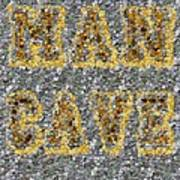 Man Cave Coin Mosaic Print by Paul Van Scott