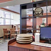 Manager Station At A Cafe Print by Magomed Magomedagaev