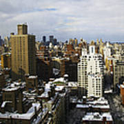 Manhattan View On A Winter Day Print by Madeline Ellis