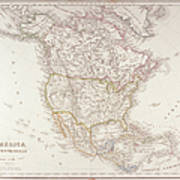 Map Of North America Print by Fototeca Storica Nazionale