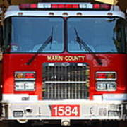 Marin County Fire Department Fire Engine . Point Reyes California . 7d15921 Print by Wingsdomain Art and Photography