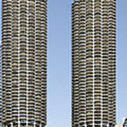 Marina City Chicago - Life In A Corn Cob Print by Christine Till