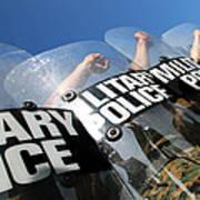 Marines Practice Riot Control Print by Stocktrek Images