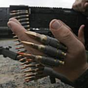 Marines Prepare The M-240g Medium Print by Stocktrek Images