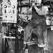Mary Loomis, Radio School Operator Print by Science Source