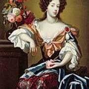 Mary Of Modena  Print by Simon Peeterz Verelst