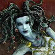 Medusa Print by Jutta Maria Pusl