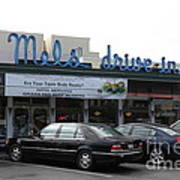 Mel's Drive-in Diner In San Francisco - 5d18012 Print by Wingsdomain Art and Photography