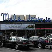 Mel's Drive-in Diner In San Francisco - 5d18013 Print by Wingsdomain Art and Photography