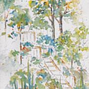 Memories Lucien Lake Print by Pat Katz
