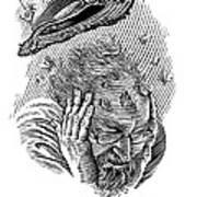 Memory Moths, Conceptual Artwork Print by Bill Sanderson
