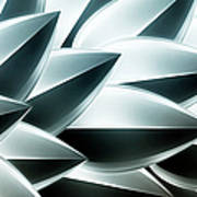 Metallic Feathers, Full Frame Print by Ralf Hiemisch