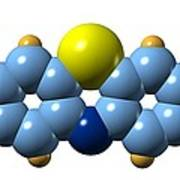 Methylene Blue, Molecular Model Print by Dr Mark J. Winter