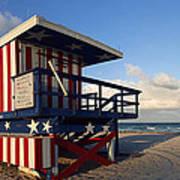 Miami Beach Watchtower Print by Melanie Viola
