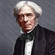 Michael Faraday, English Chemist Print by Sheila Terry