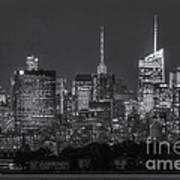 Mid-town Manhattan Twilight II Print by Clarence Holmes