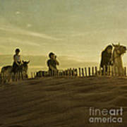 Midsummer Evening Horse Ride Print by Paul Grand